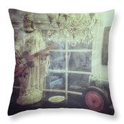 Hospice Madonna Throw Pillow