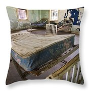 Hospital Bed Preston Castle Throw Pillow