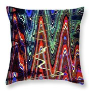 Hospital Construction Abstract #4 Throw Pillow