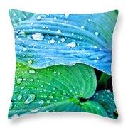 Hosta After The Rain Throw Pillow