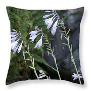 Hosta Watcher Throw Pillow