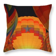 Hot Aie Balloons Throw Pillow