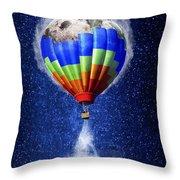 Hot Air Balloon / Digital Art Throw Pillow
