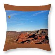 Hot Air Balloon Flight 011914iii Throw Pillow