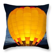 Hot Air Balloon Glow Throw Pillow