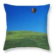 Hot Air Balloon In Hawaii Throw Pillow
