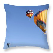 Hot Air Balloon Ride A Special Adventure Throw Pillow