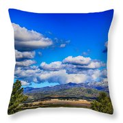 Hot Air Balloon Ride In Orange County Throw Pillow