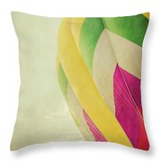 Hot Air Balloon With Pastel Sky Throw Pillow