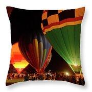 Hot Air Balloons At Night October 28, 2017 #2 Throw Pillow