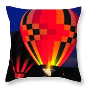 Hot Air Balloons Throw Pillow