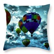 Hot Air Balloons In Albuquerque Throw Pillow