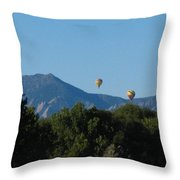 hot air balloons SCN M 23 Throw Pillow