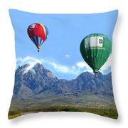 Hot Air Over The Organ Mountains Throw Pillow