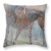Hot And Frosty Throw Pillow