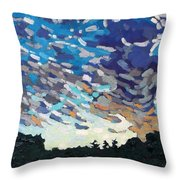 Hot August Sunrise Throw Pillow