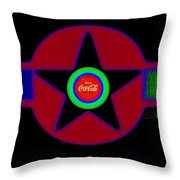 Hot Black Throw Pillow
