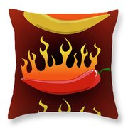 Hot Chilies Throw Pillow