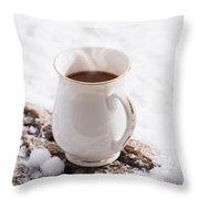 Hot Chocolate Drink Throw Pillow