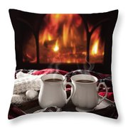 Hot Chocolate Drinks Throw Pillow