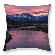 Hot Creek Sunset Throw Pillow