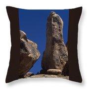 Hot Dark Blue Sky - Alabama Hills Throw Pillow