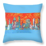 Hot Day In The City Throw Pillow