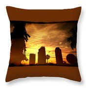 Hot Day On The Strip Throw Pillow