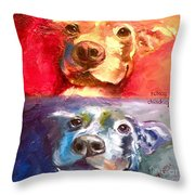 Hot Dog Chilly Dog Study Throw Pillow