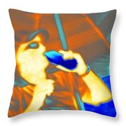 Hot Dude Cool Drink Throw Pillow