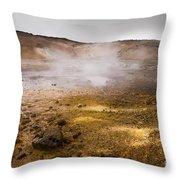 Hot Earth Throw Pillow