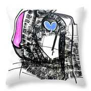 Hot Handed, Cold Hearted Throw Pillow