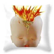 Hot Head Throw Pillow