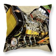 Hot Hotrod Throw Pillow