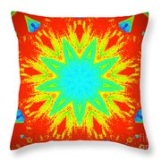 Hot Kaleidoscope Flower Throw Pillow