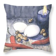 Hot Kitchen Throw Pillow