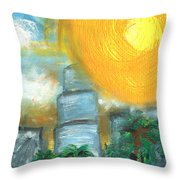 Hot Miami Sky Throw Pillow