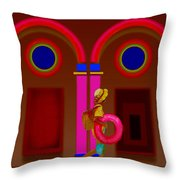 Hot Night In Rome Throw Pillow