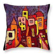 Hot Night In The City Throw Pillow
