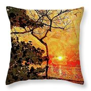 Hot Night In The Tropics Throw Pillow
