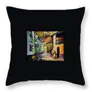 Hot Noon Original Oil Painting  Throw Pillow