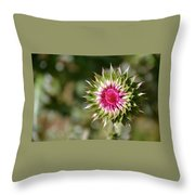 Hot Pink And Spikey Throw Pillow