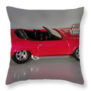 Hot Pink Barracuda Throw Pillow
