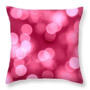 Hot Pink Bokeh Throw Pillow