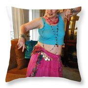 Hot Pink In The Parlor Throw Pillow