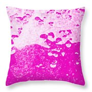 Hot Pink Liquid Throw Pillow