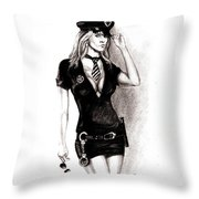 hot Police unifome Throw Pillow