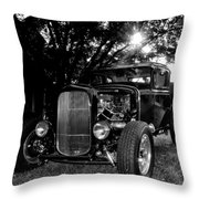 Hot Rod - Ford Model A Throw Pillow