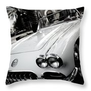 Hot Rod Black And White Throw Pillow