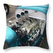 Hot Rod Engine Detail Throw Pillow